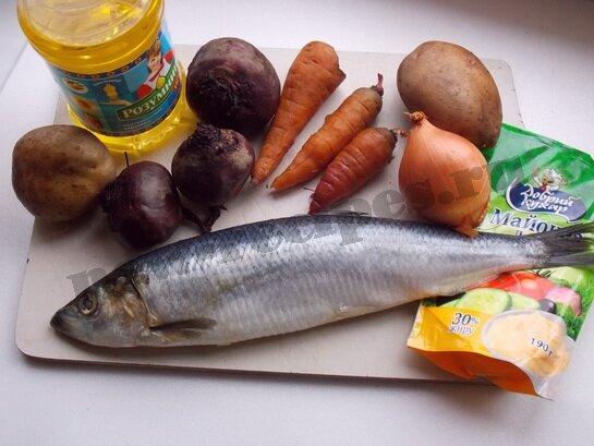 Салат под шубой ингредиенты
