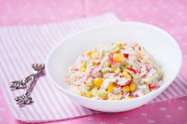 простой рецепт крабового салата