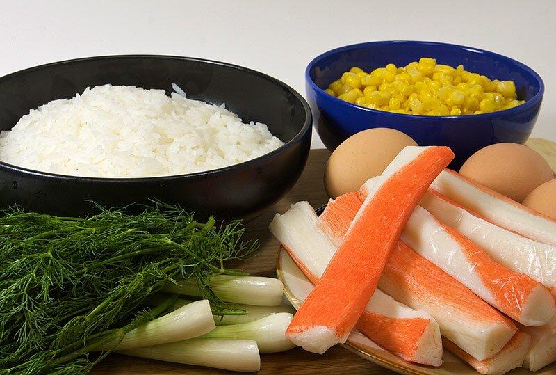 салат крабовый - ингредиенты