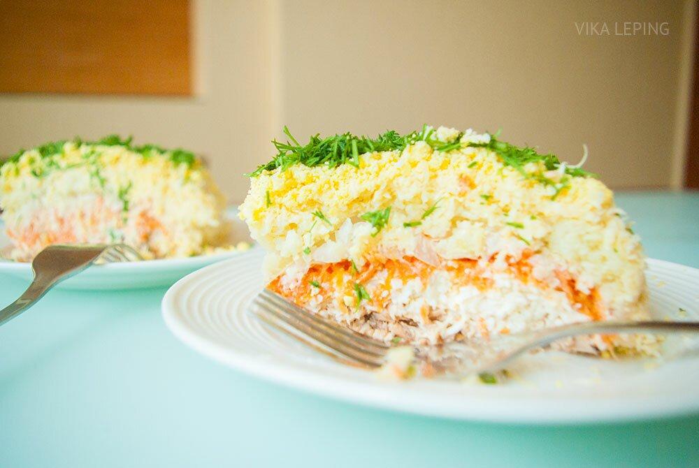 салат мимоза - рецепт 10