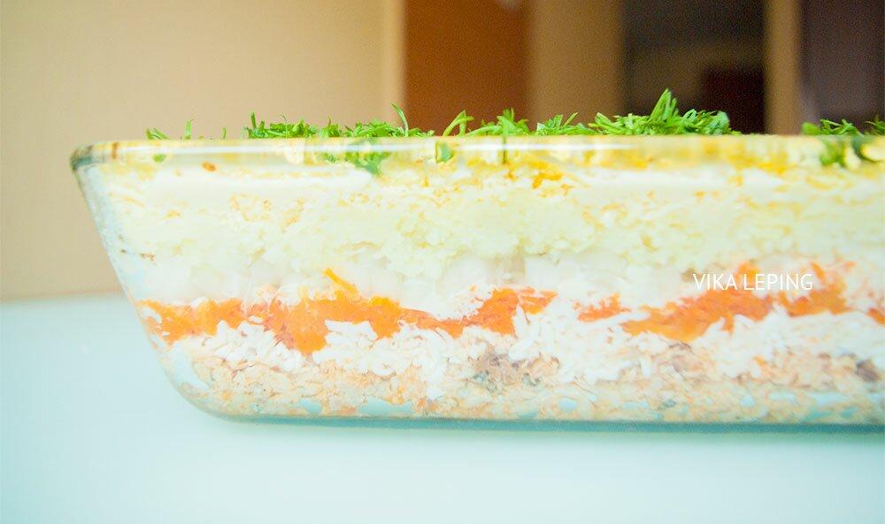 салат мимоза - рецепт 9