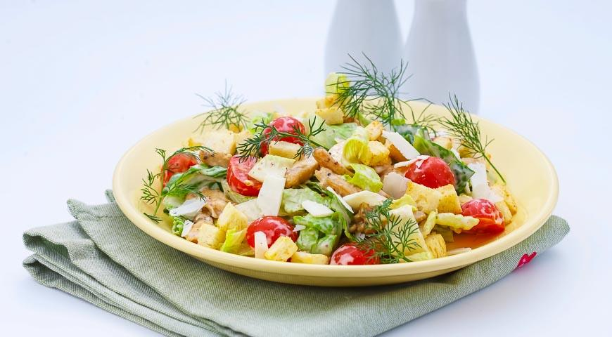 салат цезарь соус