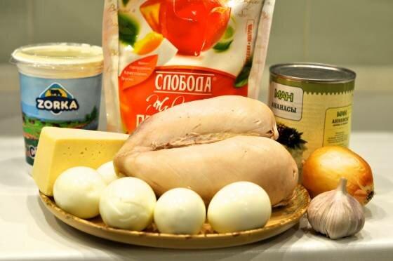 салат ананас ингредиенты салата