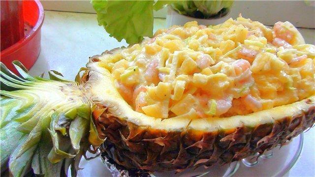 салат ананас приготовление