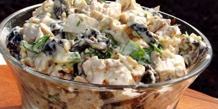 нежность салат с курицей