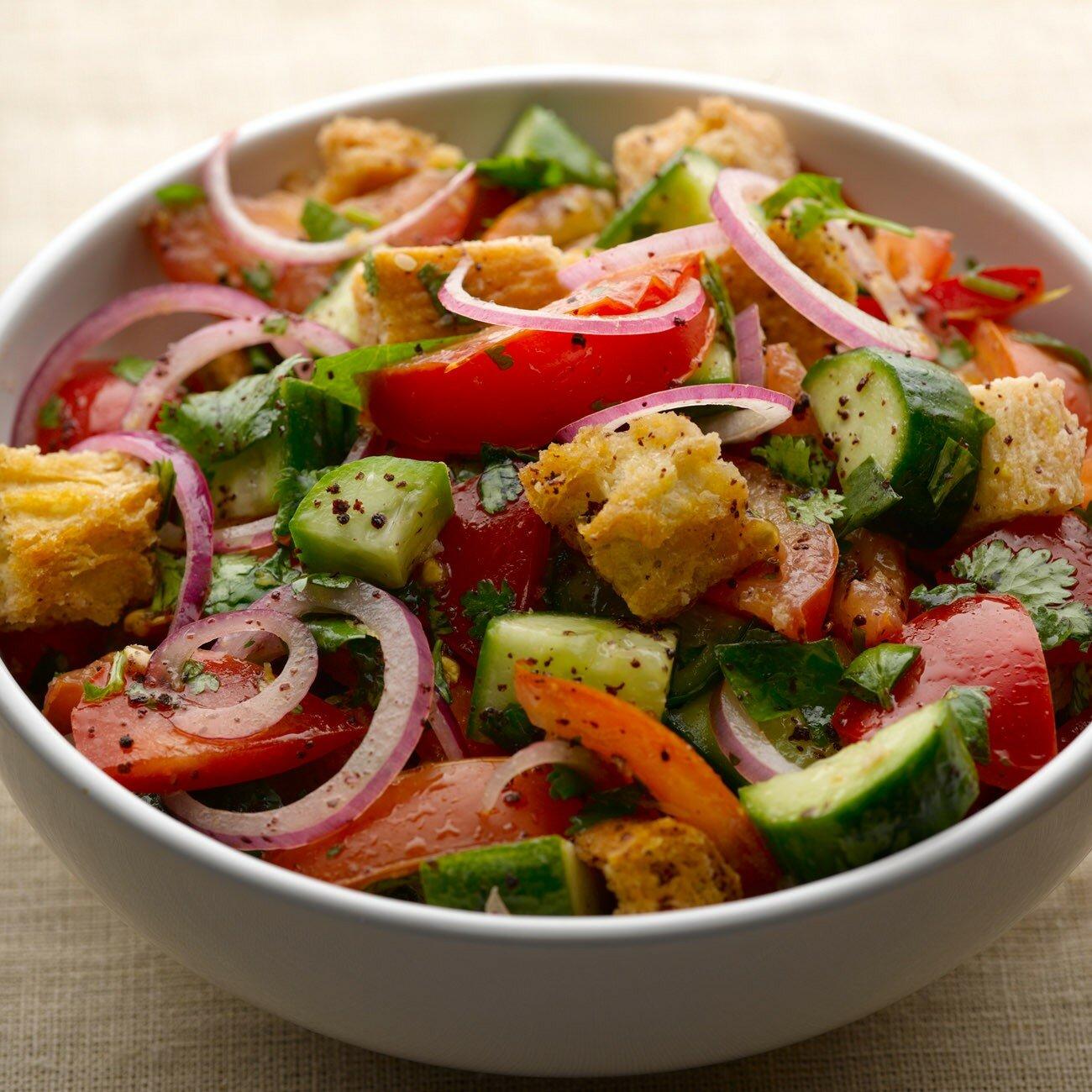 салат из помидоров как готовить
