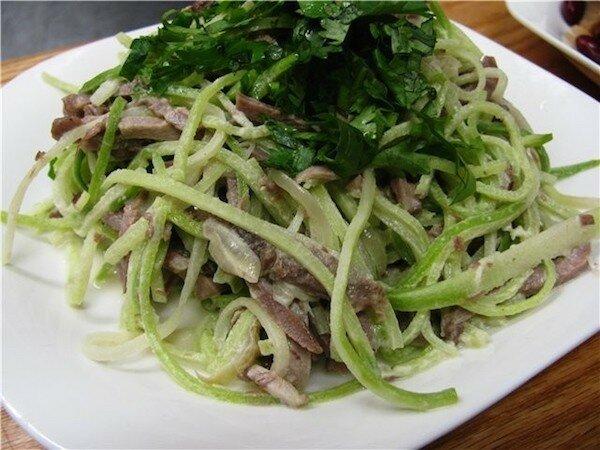 салат из редьки с мясом рецепт приготовления