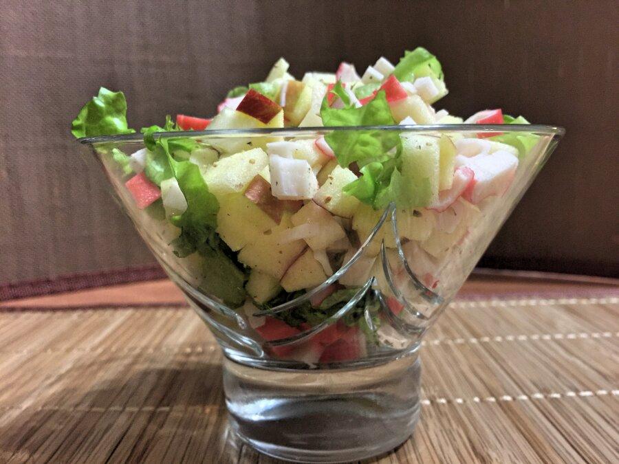 салат нежность с крабовыми палочками рецепт с фото