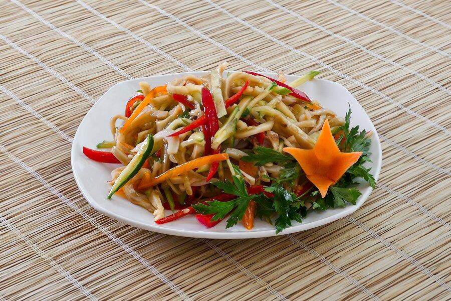 диетический салат из кальмаров рецепты