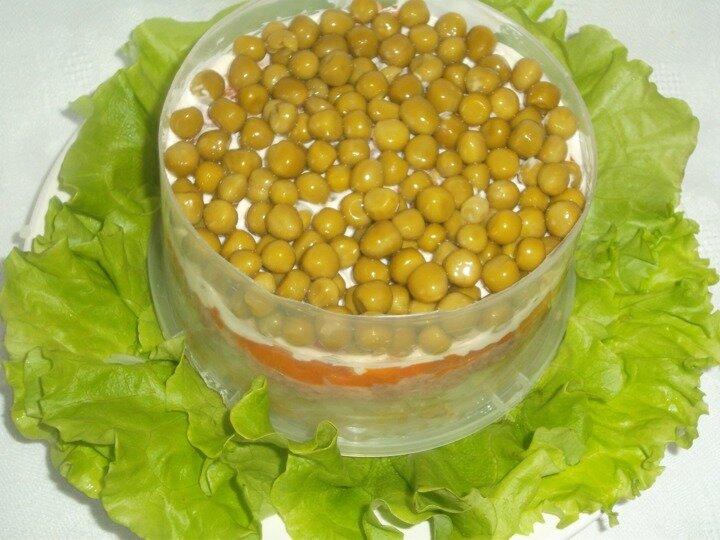 диетический салат из кальмаров рецепт с фото