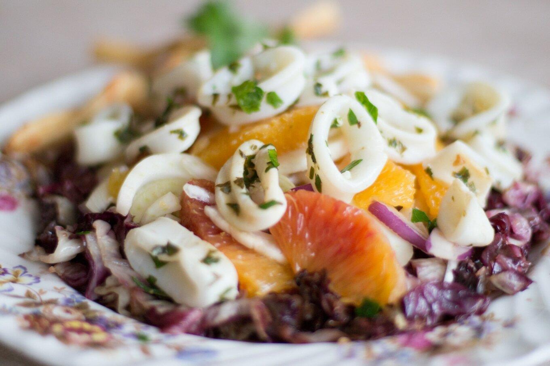 диетический салат из кальмаров рецепт
