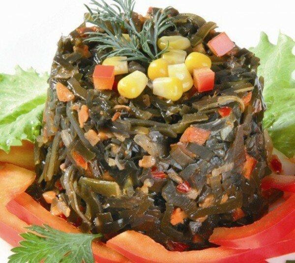 как приготовить салат с морской капустой