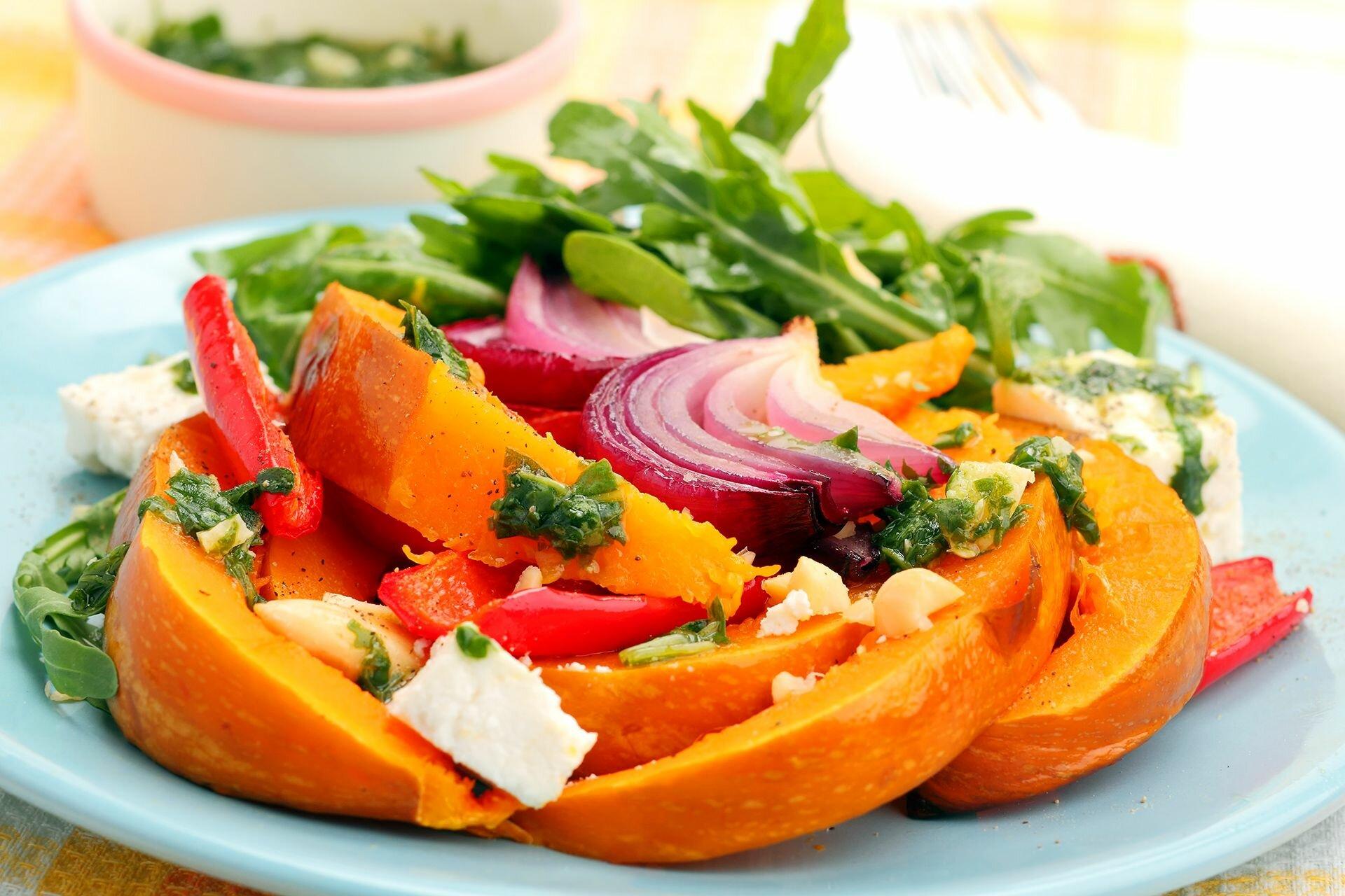 как сделать салат из тыквы