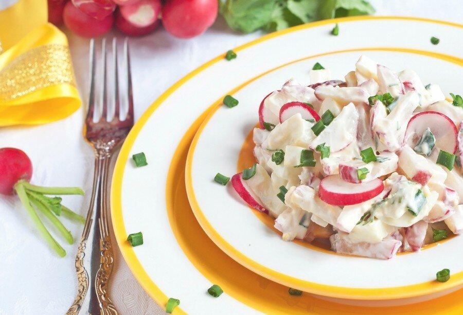 салат из редиски рецепты