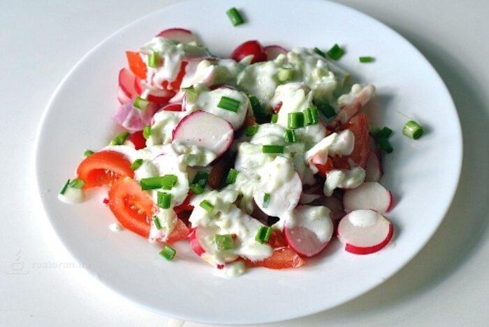 салат из редиски рецепт