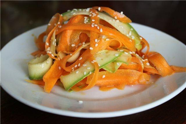 Закуска из кабачка с кунжутом рецепт с фото