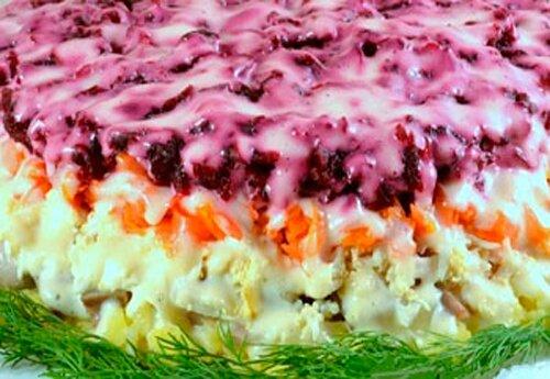 Селедка под шубой с сыром рецепт с фото